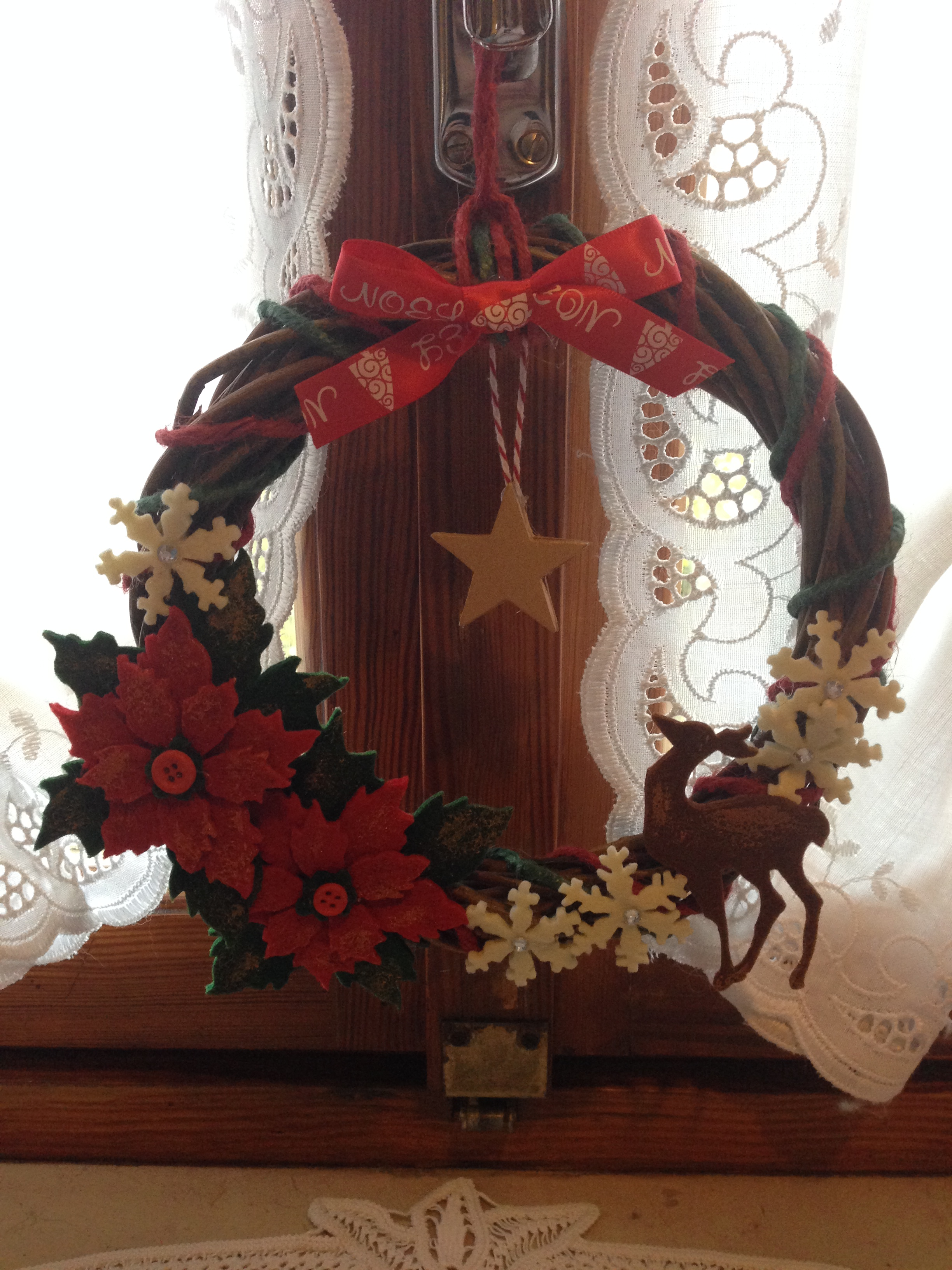 Un ghirlanda di natale realizzata con la mitica big shot - Giornale porta portese annunci regali ...
